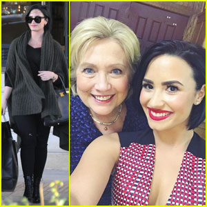 Demi Lovato Throws Her Support Behind Hillary Clinton - See Their Selfie!