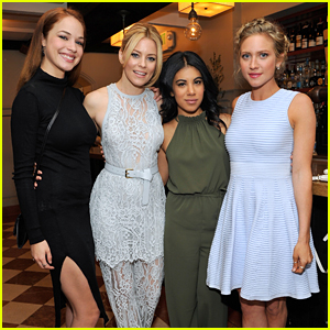 Brittany Snow & Chrissie Fit Honor Elizabeth Banks at Vanity Fair Luncheon