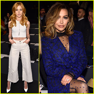 Katherine McNamara & Naya Rivera Hit Up the Monique Lhuillier Show!