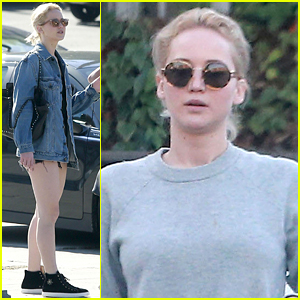 Jennifer Lawrence Sports A Suggestive Jacket Grabbing Lunch in L.A.