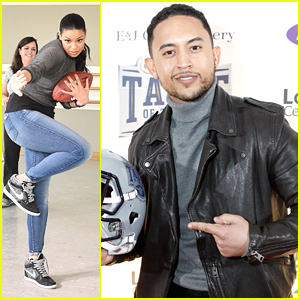 Jordin Sparks Kicks Off Super Bowl Weekend With A Victory Dance