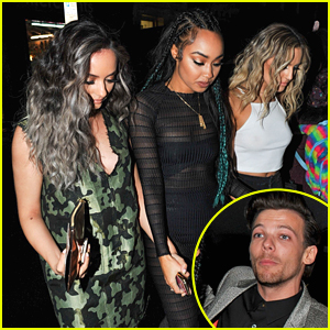 Little Mix & Louis Tomlinson Party Together After BRIT Awards 2016