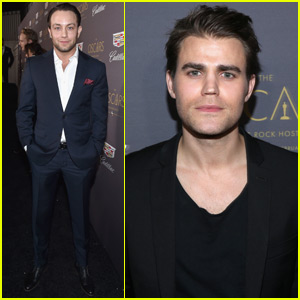 Paul Wesley & Jonathan Sadowski Hit Up Cadillac's Pre-Oscar Party