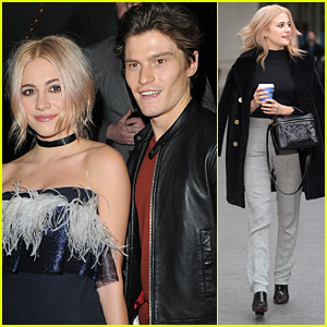 Pixie Lott & Oliver Cheshire Hit InStyle's EE Rising Star Party with Maisie Williams