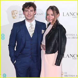 Sam Claflin & Laura Haddock Couple Up at Pre-BAFTAs Party