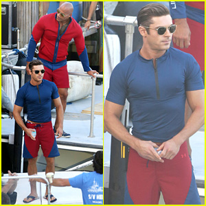 Zac Efron & Dwayne Johnson Film 'Baywatch' in Florida!