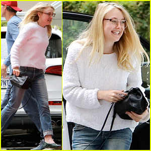 Dakota Fanning Is All Smiles In Hollywood
