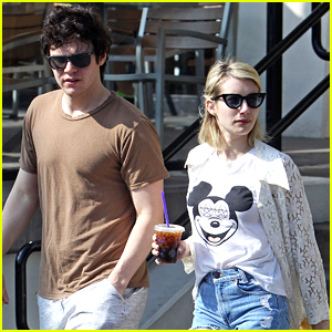 Evan Peters Grabs Coffee With Emma Roberts After 'X-Men: Apocalypse' Trailer Debut