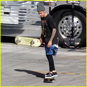 Justin Bieber Takes Skateboard Break Before Arizona Concert