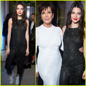 Kendall Jenner and Mom Kris Party in Paris