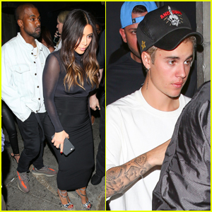 Justin Bieber Parties With the Kardashians After L.A. Show
