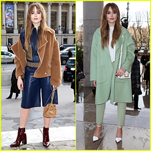 Kristina Bazan Steps Out For Maison Martin Margiela & Rochas Shows at Paris Fashion Week
