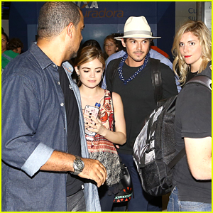 Lucy Hale & Tyler Blackburn Cause Commotion While Arriving In Rio