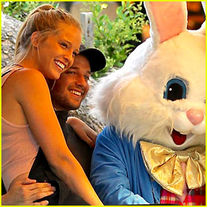 Patrick Schwarzenegger Takes Photos with the Easter Bunny & New Girlfriend Abby Champion!