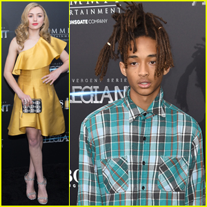 Jaden Smith & Peyton List Step Out for 'Allegiant' Premiere in the Big Apple