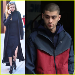 Zayn Malik Emerges From Gigi Hadid's Home in the Big Apple