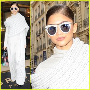 Zendaya Is Radiant in White During Paris Fashion Week Outing