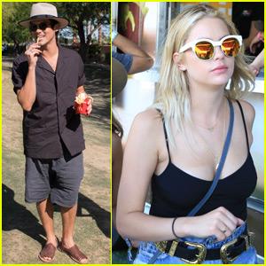 Tyler Blackburn & Ashley Benson Hang at the Bootsy Bellows Coachella 2016 Party