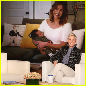Allison Holker Skypes Into 'The Ellen Show' With Baby Maddox - Watch Now!
