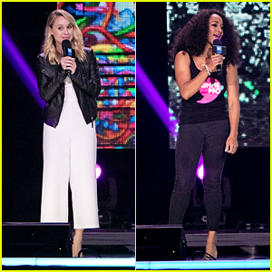 Becca Tobin & Monique Coleman Speak at We Day Chicago