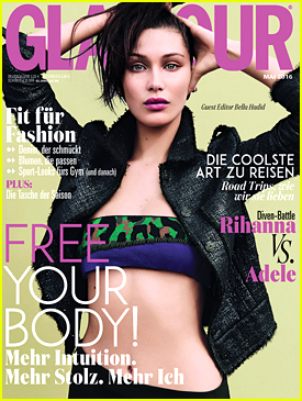 Bella Hadid Guest Edits May Issue Of 'Glamour Germany'