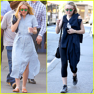 Dakota Fanning Starts Her Week with a Workout!