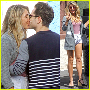 Emma Slater Visits Boyfriend Sasha Farber At The Dance Studio