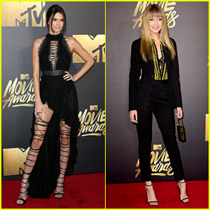 Kendall Jenner Joins Gigi Hadid on Red Carpet at MTV Movie Awards 2016