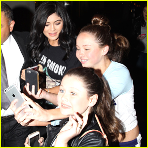 Kylie Jenner Clears Up Story About Eager Young Fans Who Grabbed Her