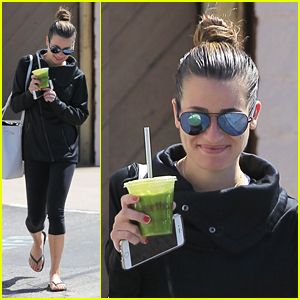Lea Michele Returns From Coachella Weekend