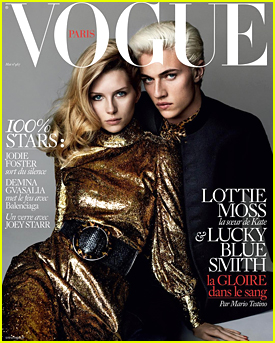Lottie Moss & Lucky Blue Smith Cover 'Vogue Paris' May 2016