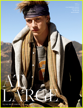 Lucky Blue Smith Poses in the Desert for 'At Large' Mag (Exclusive)