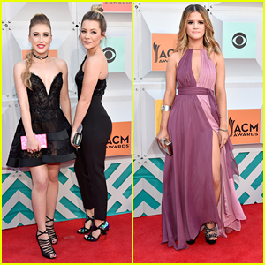 Maddie & Tae Kill The ACM Awards 2016 Red Carpet with Maren Morris