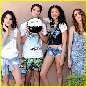 Vanessa Hudgens & Tyler Posey Join Forever 21 During Coachella Weekend