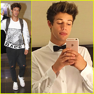 Cameron Dallas Wears Bow Tie For White House Correspondents Dinner 2016