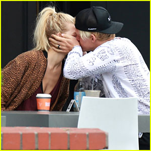 Cody Simpson Kisses Model Sierra Swartz at Breakfast in LA