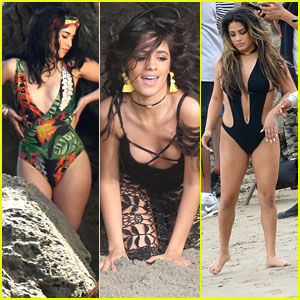Fifth Harmony Shoot 'All In My Head' Video On The Beach