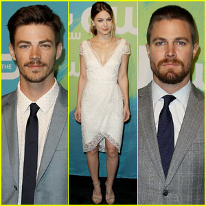 Grant Gustin & Stephen Amell Are Superhero Hotties at CW Upfronts 2016