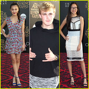 Jake Paul Brings 'Bizaardvark' Cast Mates To 'Alice' Premiere in Hollywood