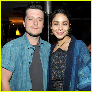 Vanessa Hudgens & Josh Hutcherson Are Friendly Exes at Beverly Hills Event