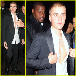 Justin Bieber Suits Up For Met Gala 2016 After Party!