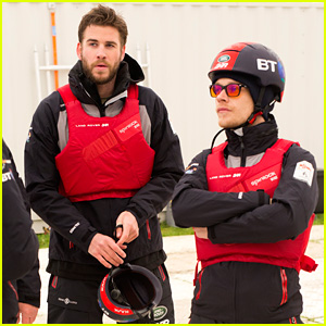 Liam Hemsworth Joins Britain's America's Cup Team for a Day on the Water