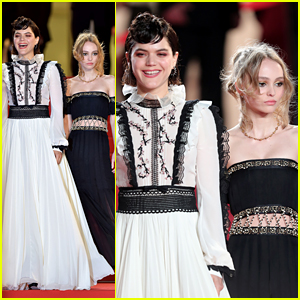 Lily-Rose Depp Joins Soko at 'The Dancer' Cannes Premiere