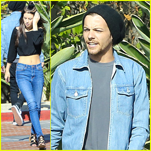 Louis Tomlinson Steps Out to Meet with Briana Jungwirth