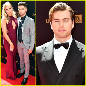 Max Ehrich Gets Support from Veronica Dunne at Daytime Emmys 2016!