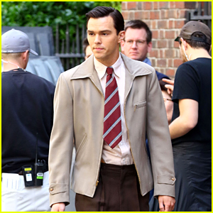 Nicholas Hoult Continues Filming New Movie 'Rebel in the Rye'