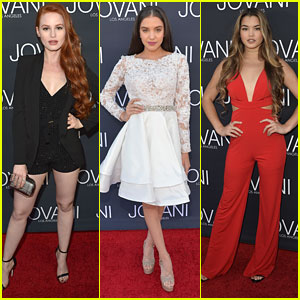 Riverdale's Madelaine Petsch Joins Paris Berelc & Lilimar at Jovani's LA Launch