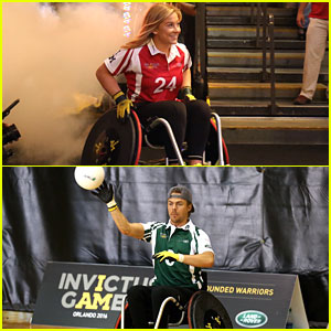 Shawn Johnson & Derek Hough Battle In Jaguar Land Rover Wheelchair Rugby Match During Invictus Games