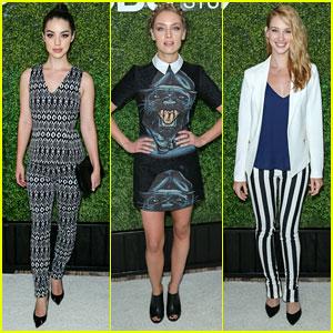 Adelaide Kane, Rachel Skarsten & Yael Grobglas Glam Up CBS' Summer Soiree