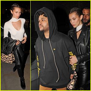Bella Hadid & The Weeknd Leave London Club Arm in Arm